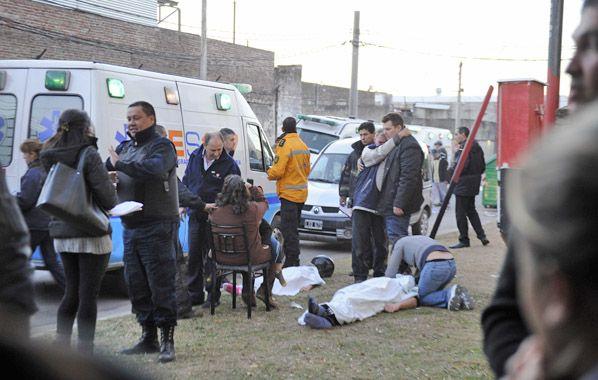 Desgarrador. Los cuerpos fueron sacados de la vivienda de Callao al 3900.