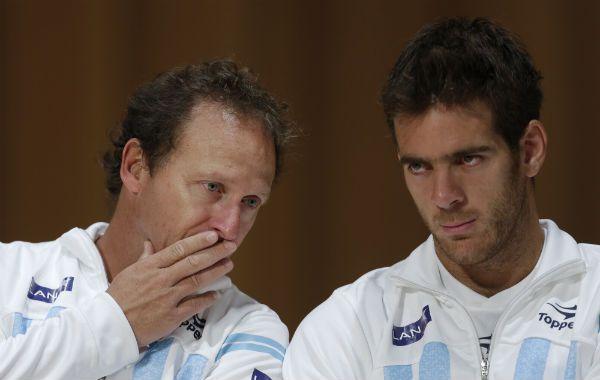 Todo mal. La relación entre Jaite y Del Potro está rota. El futuro de la Torre en la Copa Davis es un gran misterio.