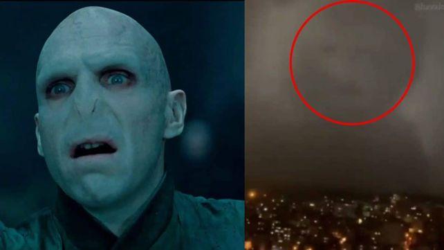 Durante una tormenta se hizo viral una imagen por asemejarse a un conocido villano