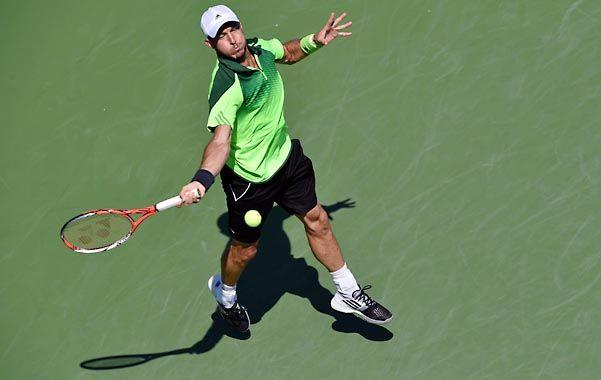 Aprobó. El tandilense recuperó su mejor nivel en el torneo chino. Ayer perdió con Murray por 2/6
