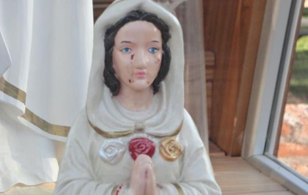 La imagen de la Virgen con lágrimas de dolor fue subida a la página del Campo Oratorio María Rosa Mística de Centeno.