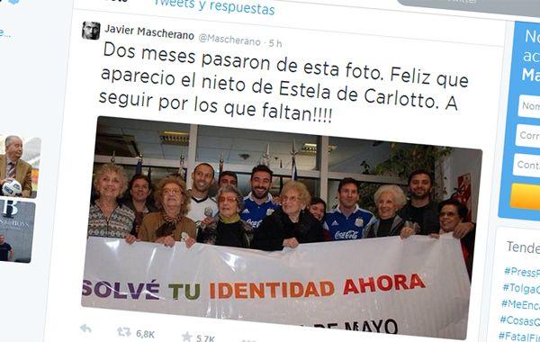 Mascherano y Lavezzi también enviaron felicitaciones y esperanza para los que siguen buscan
