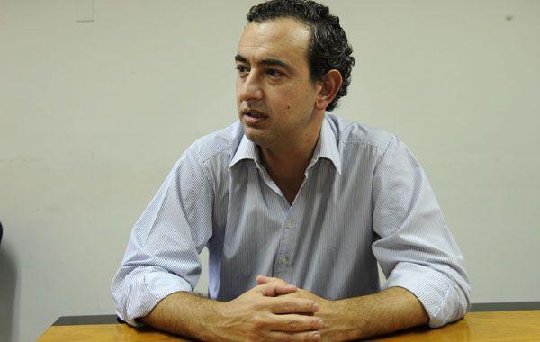 El diputado nacional y precandidato a intendente de Rosario por el Frente Progresista.