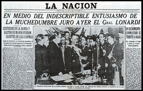 El diario La Nación negó el golpe de Estado del 55