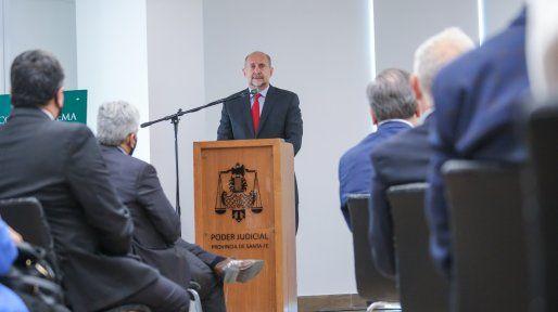Perotti inauguró el nuevo edificio de Tribunales en la ciudad de San Cristóbal