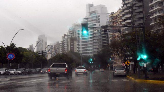 Baja visibilidad. Las precipitaciones vienen provocando serios inconvenientes.