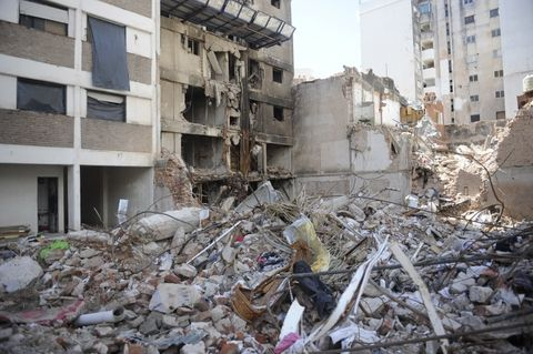 Catástrofe. Como consecuencia de la devastadora explosión ocurrida el 6 de agosto pasado