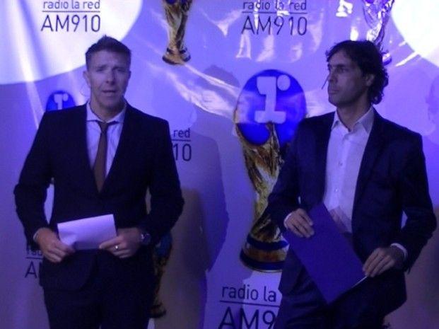 Alejandro Fantino y Gustavo López presentaron el equipo de La Red que cubrirá la Copa del Mundo que se jugará el mes próximo en Brasil.