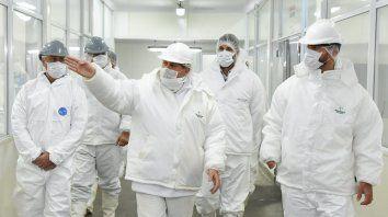 El ministro de Trabajo de la provincia RobertoSukermanrevisó losprotocolosde higiene y seguridad y dio el visto bueno.