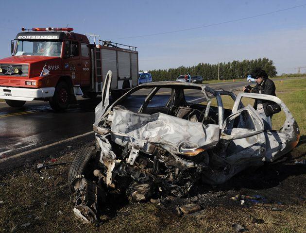 El fatal accidente se produjo cerca de las 5 de la mañana sobre la ruta 1001. (Foto:S. Toriggino)