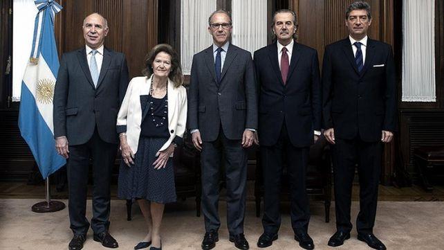 La Corte Suprema de Justicia y sus cinco integrantes.