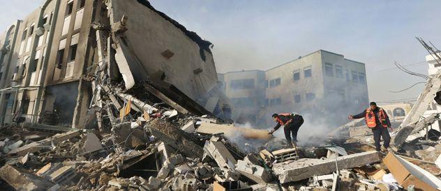 Los restos del Ministerio del Interior en Gaza