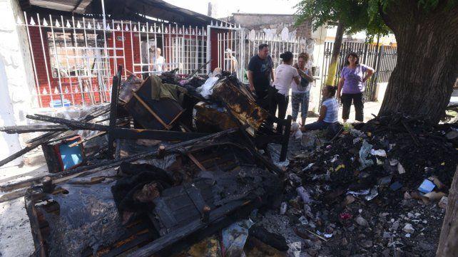 Destrucción total. La vivienda de Blas Parera 1425 quedó destruida.