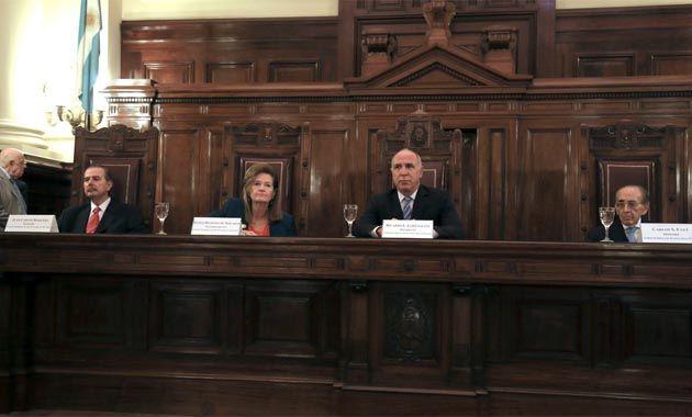 Los miembros de la Corte Juan Carlos Maqueda