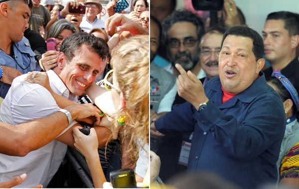 Venezuela elige entre Chávez y Capriles.