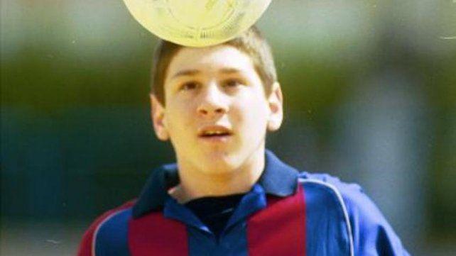 Hace 20 años Messi tenia 13 y se había probado en el club unos meses antes