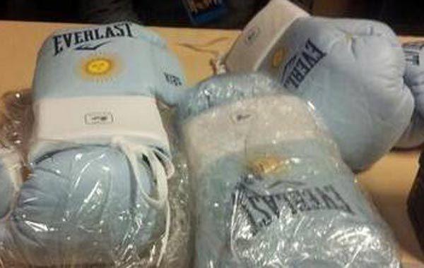 Los guantes que usará esta noche Maidana son marca Everlast y tienen los colores de Argentina.