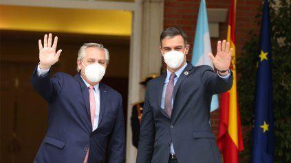 El presidente Alberto Fernández mantuvo una encuentro con el presidente del gobierno español Pedro Sánchez.