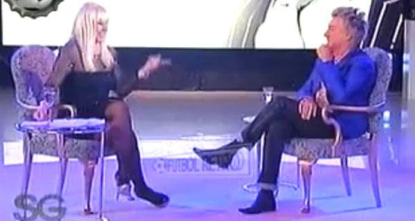 Rod Stewart se entregó a una pícara entrevista con Susana (video)