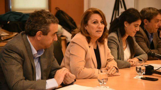 La intendenta Mónica Fein.