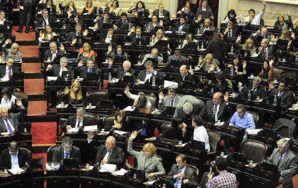 Maratónico. El debate en Diputados comenzó ayer al mediodía.