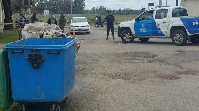 El lugar. El cuerpo fue hallado en un contenedor