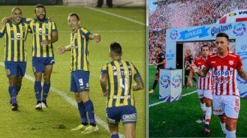 Ruben entre Zabala, Gamba y Martínez durante la gran noche que tuvieron con Huachipato por la Sudamericana. Martínez y Gamba se potenciaron junto a Zabala defendiendo la casaca de Unión.