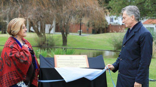Reconocimiento. Macri y la presidente de la Cidh