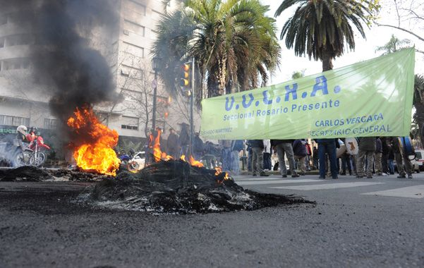 La obra fue suspendida por la Municipalidad tras detectarse diversas irregularidades en su habilitación. (Foto: S.Meccia)