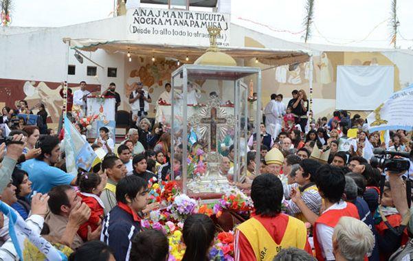 Peregrinación. Unos 200 mil fieles se congregaron ayer en Villa Mailín.