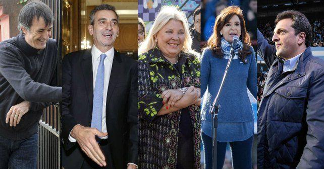 Los principales actores políticos en la compulsa que definirá los candidatos para las generales de octubre.
