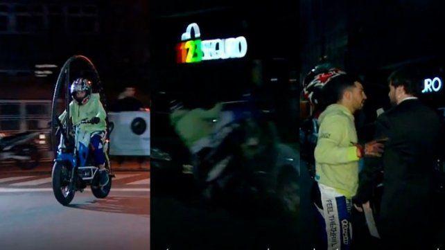 Un fuerte accidente con una moto en pleno programa asustó a Gudio Kaczka