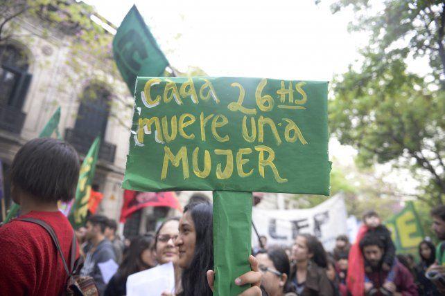 Una de las marchas realizadas en esta ciudad en contra de la violencia machista.