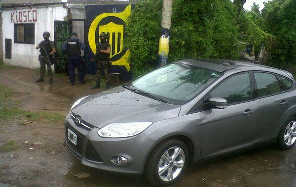 En el procedimiento realizado en Cavia y Giraldo se detuvo a una persona y se secuestró un Ford Focus.