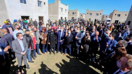 El presidente Alberto Fernández, Cristina Fernández y Axel Kicillof, en la foto de la unidad.