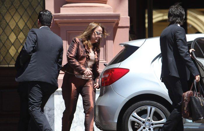 Alicia Kirchner tras su reunión en casa Rosada con funcionarios nacionales. (foto archivo)