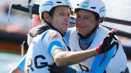 Santiago Lange y la rosarina Cecilia Carranza Saroli.