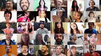 """""""Yo soy tú"""" es un trabajo de artistas regionales, pero también de aquellos que a pesar de no vivir en Rosario y su zona, hicieron su aporte a la distancia, dijo Edgardo Machain (arriba, segundo desde la izquierda), uno de los impulsos del proyecto."""