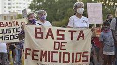 Una de las tantas manifestaciones convocadas en nuestro país como consecuencia de los crímenes por violencia de género.