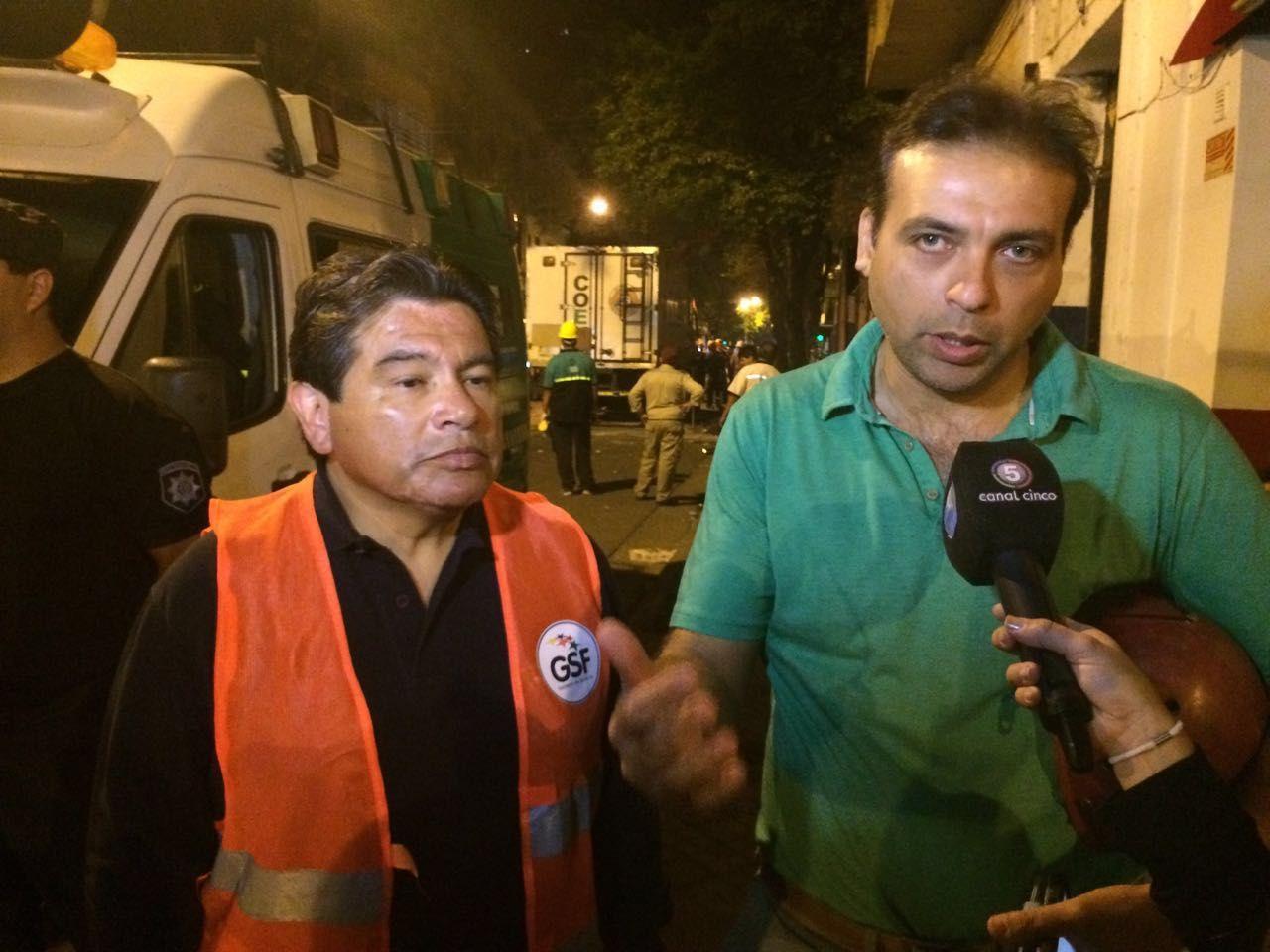 Marcos Escajadillo y Gonzalo Ratner se hicieron presentes en el lugar del siniestro.