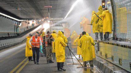 Restringen el tránsito en el túnel por tareas de limpieza