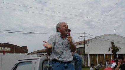 Alberto Piccinini, en su último acto al frente de la UOM de Villa Constitución.