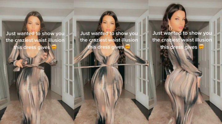 Un vestido que es furor en redes: logra que desaparezca la cintura