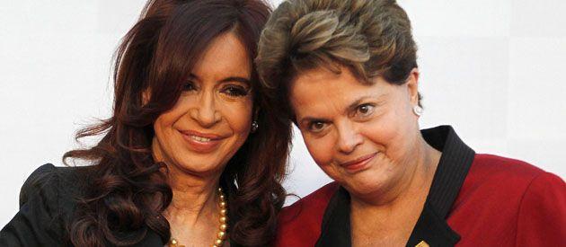 Cristina y Dilma buscan bajar la tensión en el comercio bilateral.
