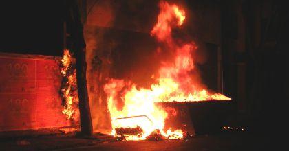 Otro incendio en un contenedor de basura que pudo terminar en tragedia
