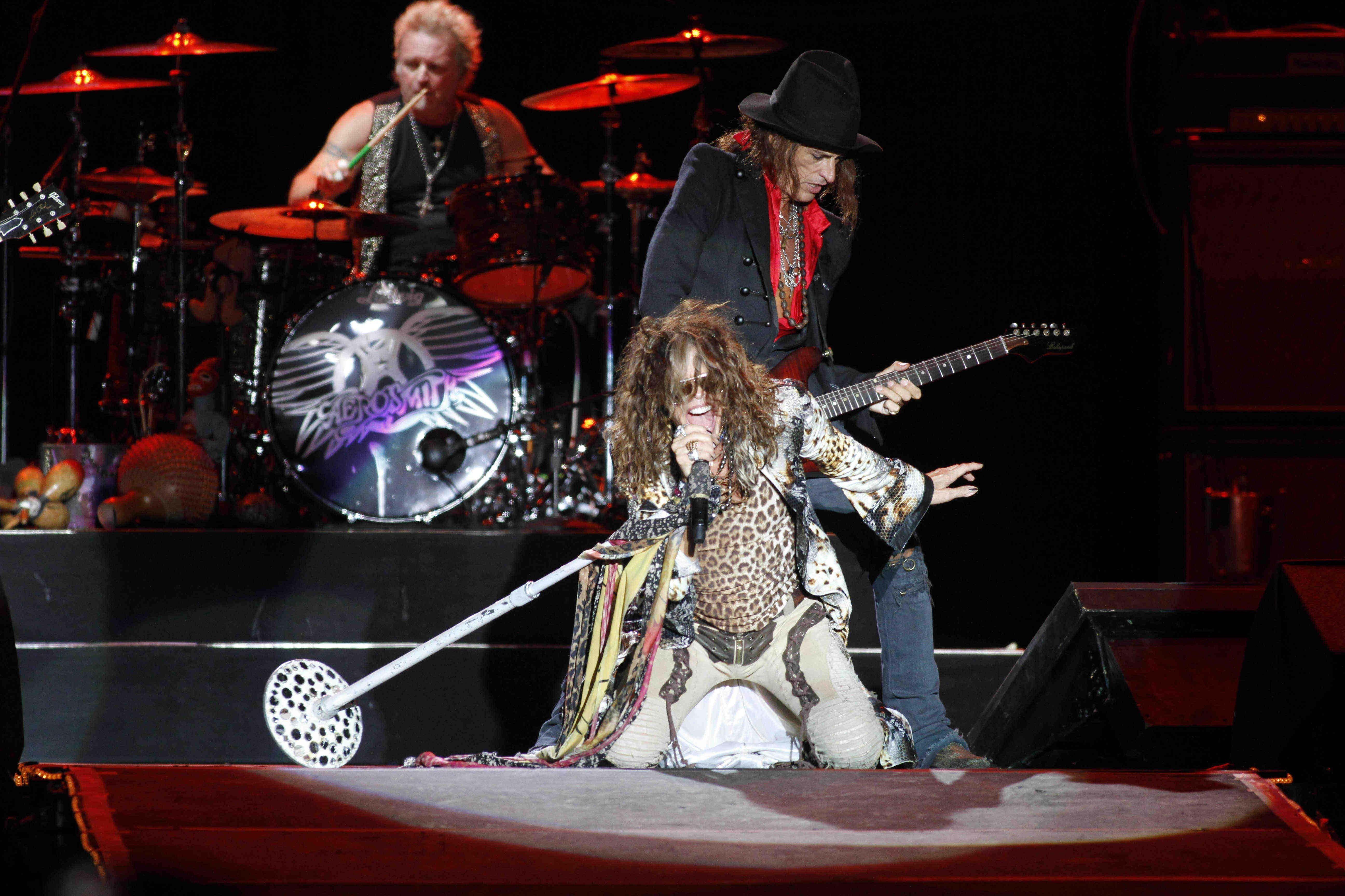 Eternos. Aerosmith mostró su vigencia en la primera noche del festival.