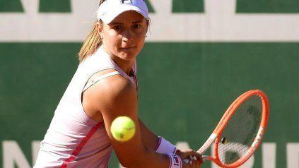 La tenista rosarina Nadia Podoroska quedó eliminada este viernes del WTA de Bad Homburg, en Alemania.
