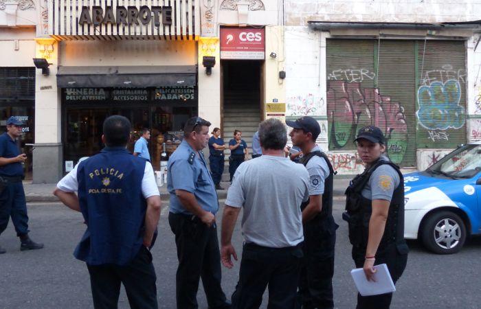 El lugar donde fue asesinado Mauro Mansilla de un balazo en la cabeza. (foto: Ángel Amaya)