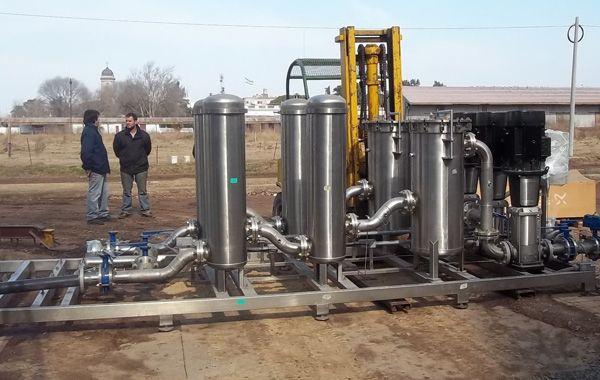 Los módulos procesarán 100 metros cúbicos de agua por hora.