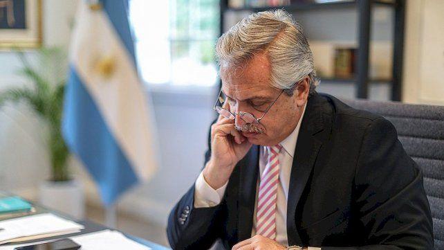 El presidente Alberto Fernández continúa preocupado por la pandemia.